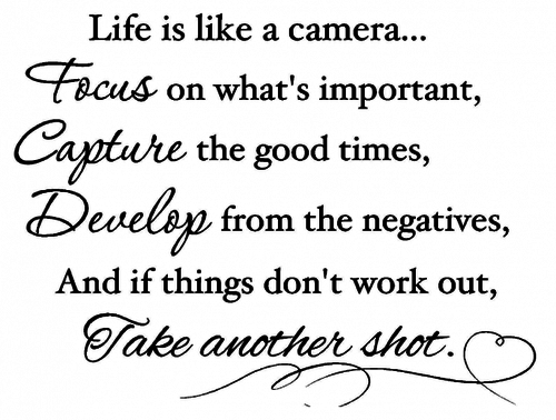 life is a cmera